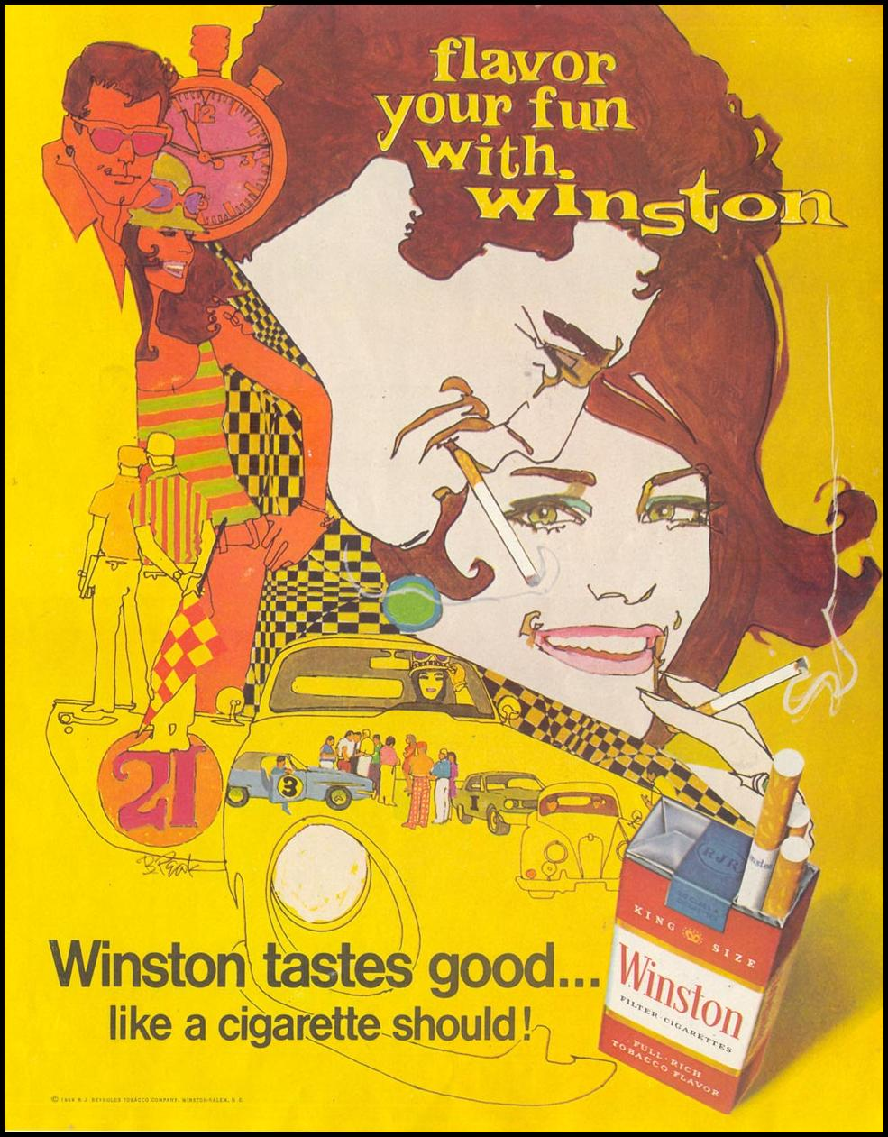WINSTON CIGARETTES SATURDAY EVENING POST 12/28/1968