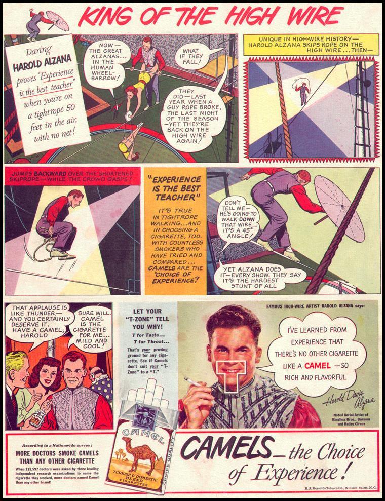 CAMEL CIGARETTES LIFE 10/11/1948 BACK COVER