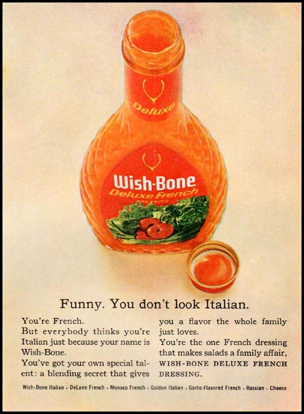 WISH-BONE FRENCH DRESSING GOOD HOUSEKEEPING 10/01/1965 p. 223