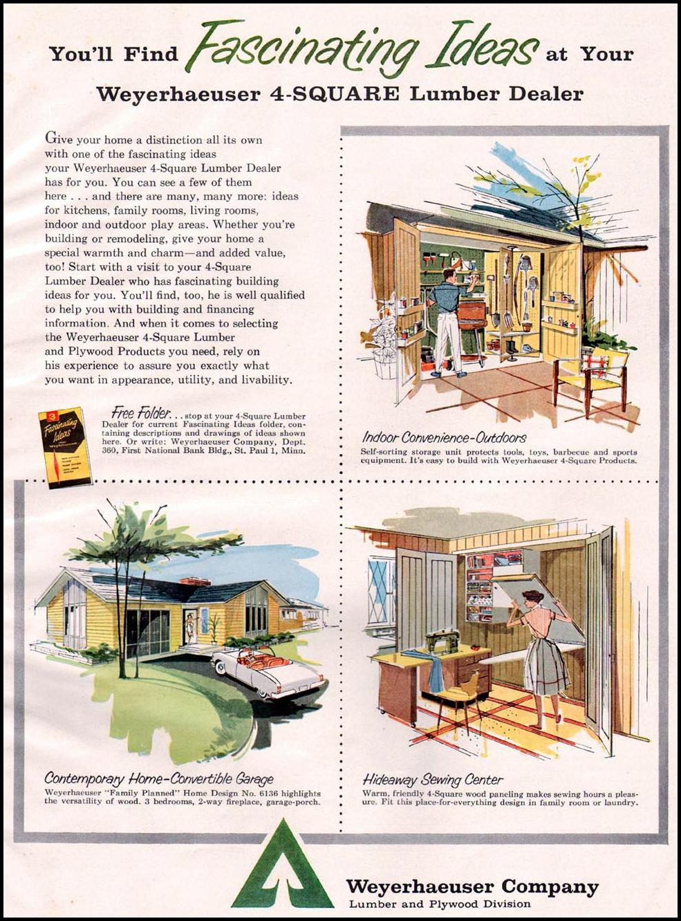 WEYERHAUSER LUMBER AND PLYWOOD PRODUCTS BETTER HOMES AND GARDENS 03/01/1960 p. 159