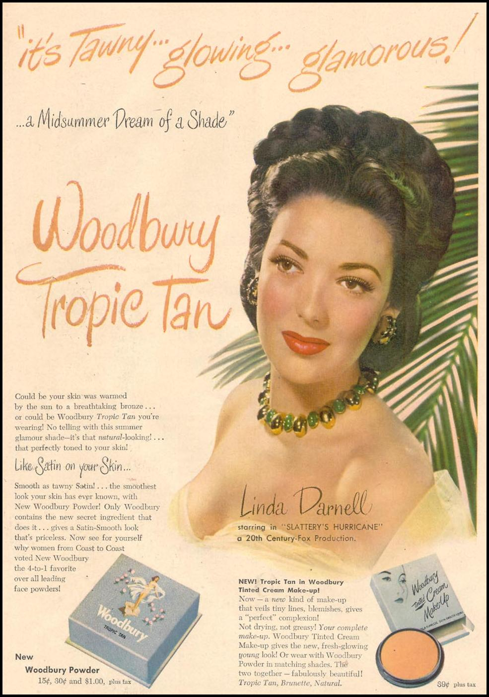 WOODBURY TROPIC TAN GOOD HOUSEKEEPING 07/01/1949 p. 104