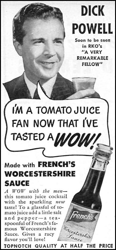 FRENCH'S WORCESTERSHIRE SAUCE WOMAN'S DAY 07/01/1946 p. 72