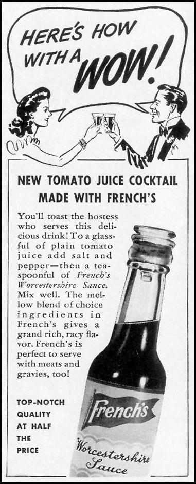 FRENCH'S WORCESTERSHIRE SAUCE LIFE 10/13/1941 p. 106