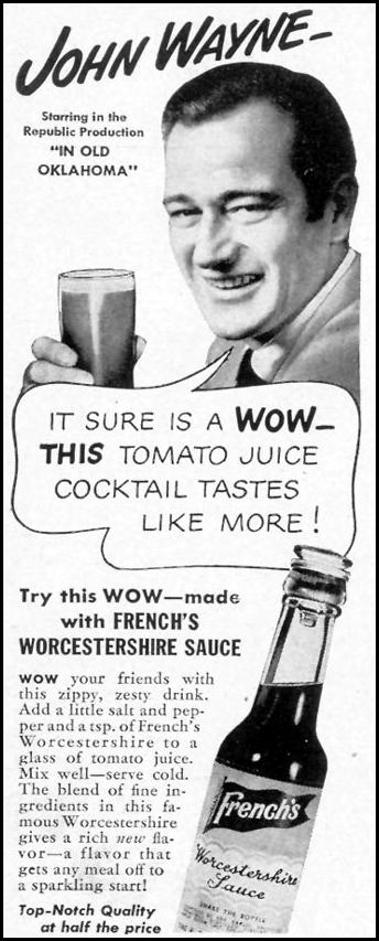 FRENCH'S WORCESTERSHIRE SAUCE LIFE 11/08/1943 p. 110