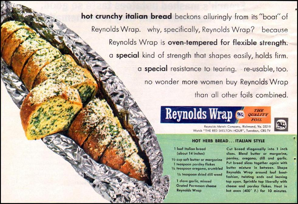 REYNOLDS WRAP ALUMINUM FOIL GOOD HOUSEKEEPING 10/01/1965 p. 58