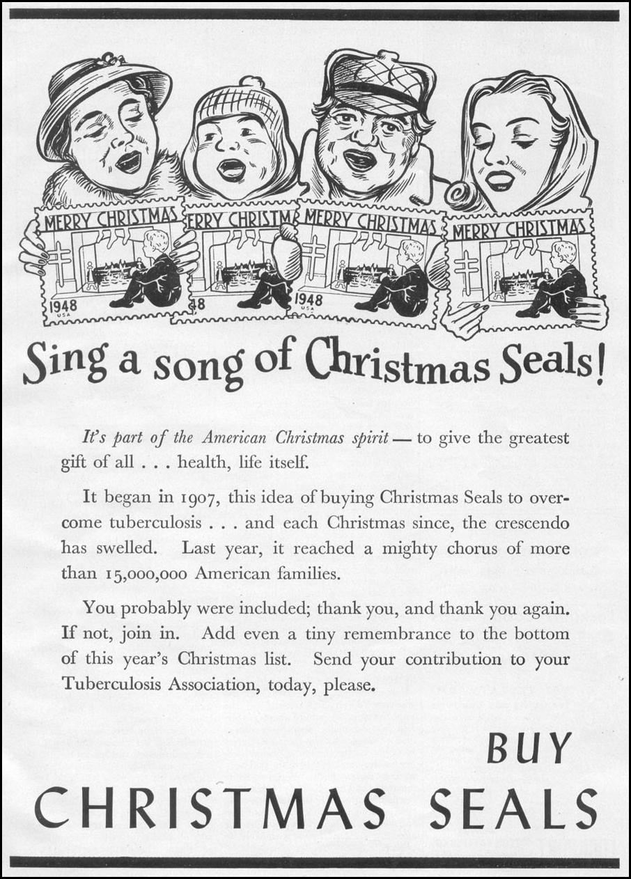 CHRISTMAS SEALS WOMAN'S DAY 12/01/1948 p. 113