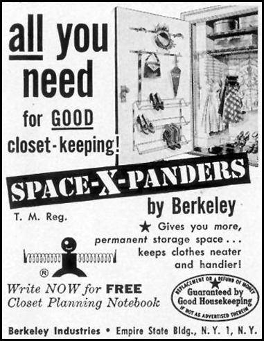 BERKELEY CLOSET SPACE-X-PANDERS LIFE 04/13/1953 p. 166