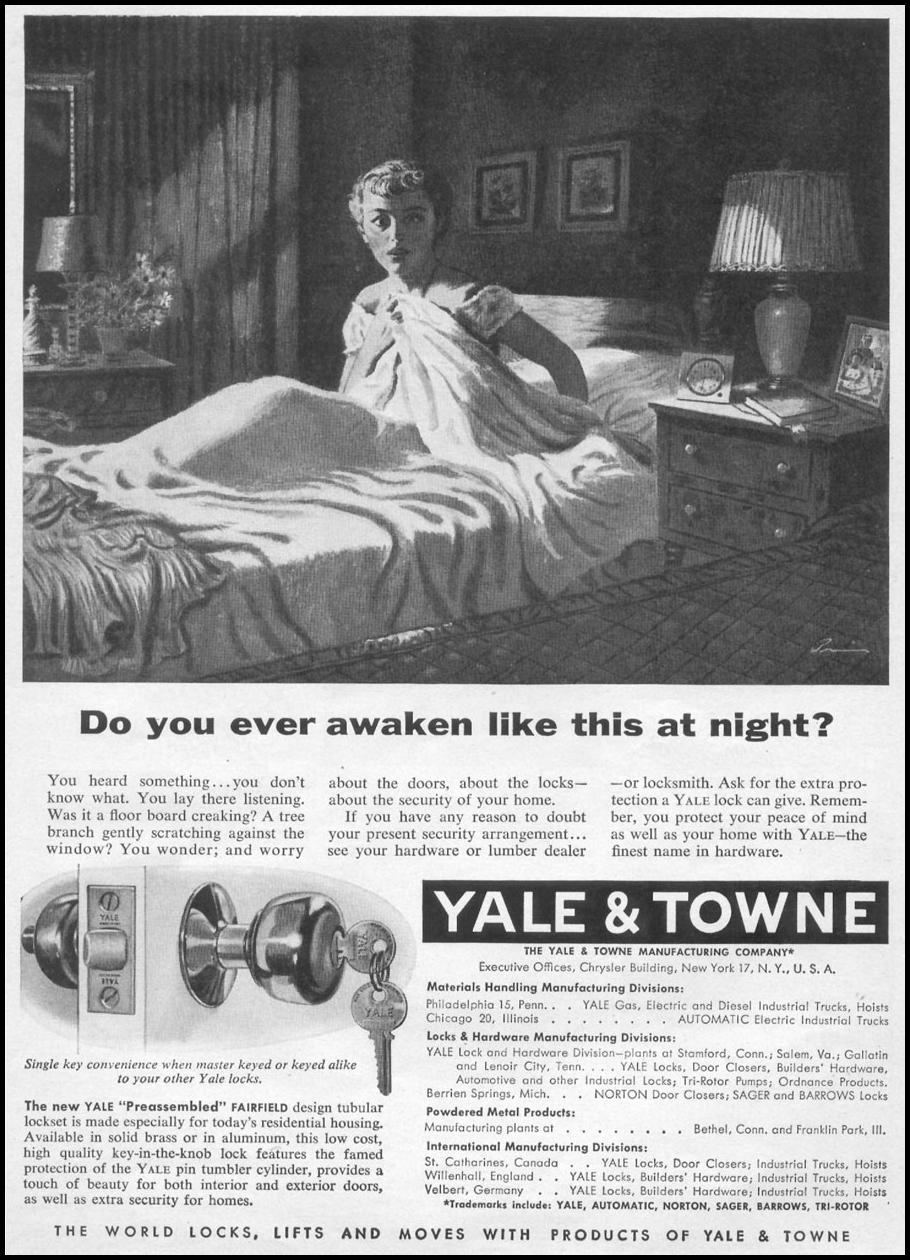 YALE DOOR LOCKS TIME 08/17/1953 p. 85