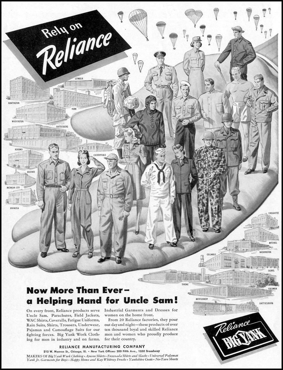 BIG YANK WORK CLOTHING LIFE 02/21/1944 p. 68