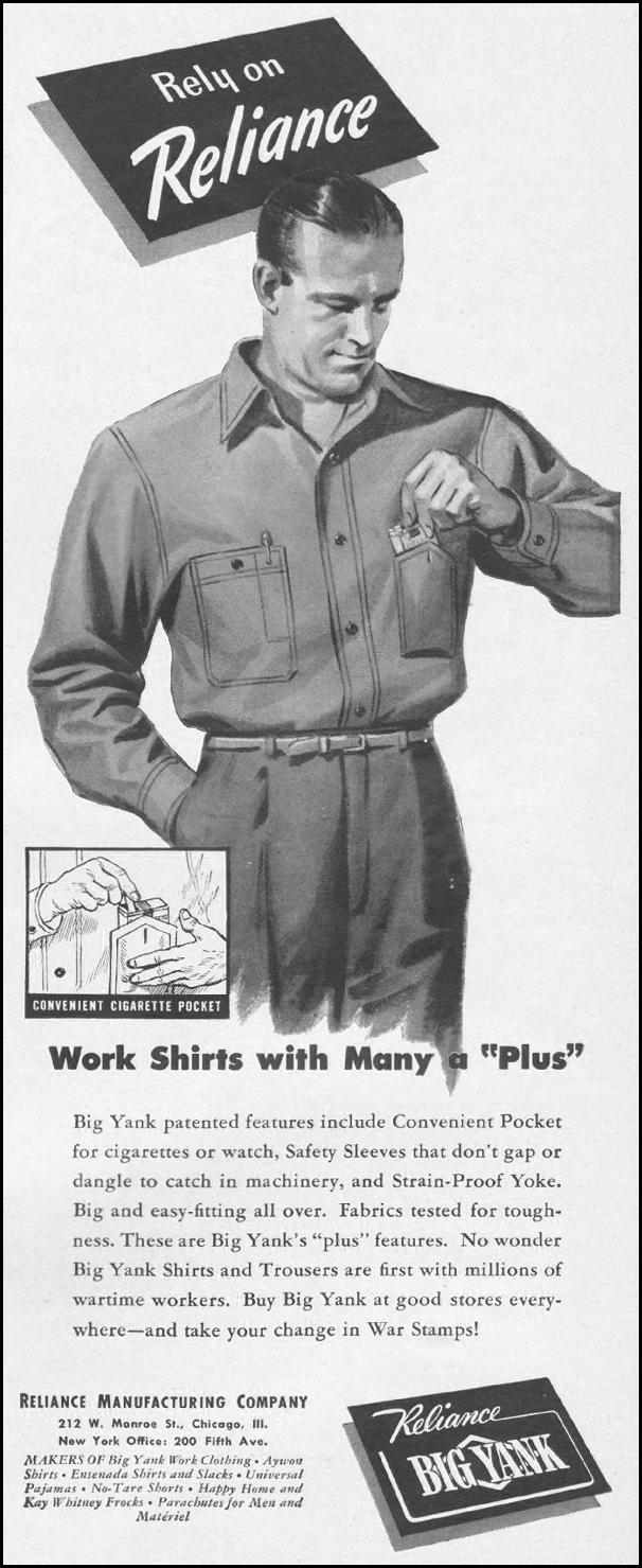 BIG YANK WORK CLOTHING LIFE 06/22/1942 p. 33