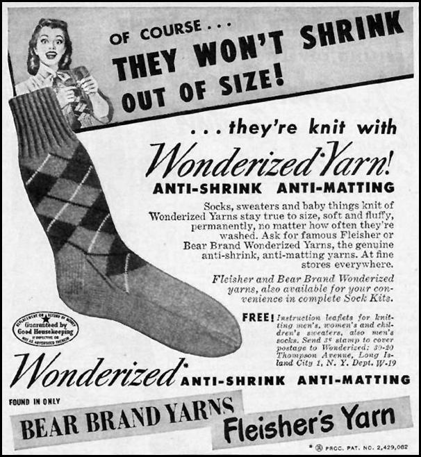 BEAR BRAND YARNS WOMAN'S DAY 01/01/1949 p. 88