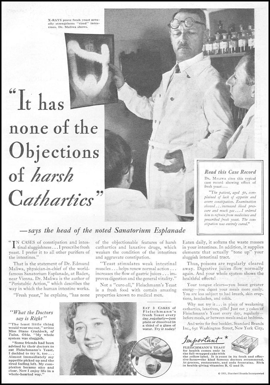 FLEISCHMANN'S YEAST GOOD HOUSEKEEPING 01/01/1932 p. 105