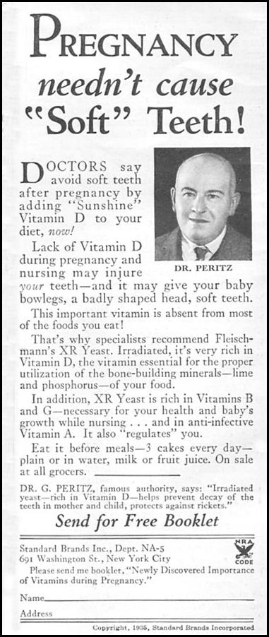FLEISCHMANN'S YEAST GOOD HOUSEKEEPING 06/01/1935 p. 184