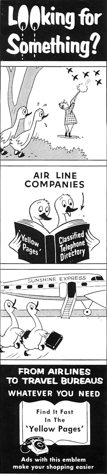 YELLOW PAGES WOMAN'S DAY 10/01/1956 p. 4