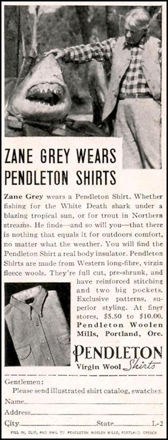 PENDLETON VIRGIN WOOL SHIRTS LIFE 09/20/1937 p. 97