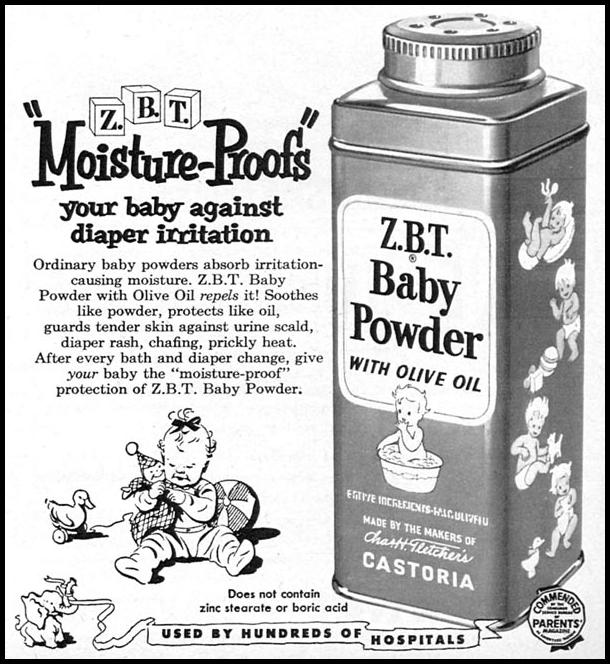 Z. B. T. BABY POWDER FAMILY CIRCLE 02/01/1956 p. 51