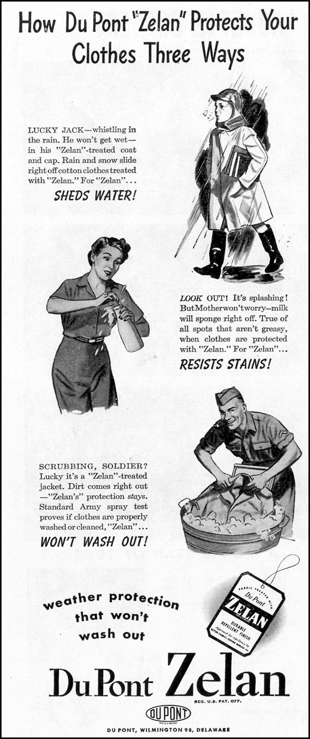 DU PONT ZELAN FABRIC TREATMENT LIFE 02/21/1944 p. 18