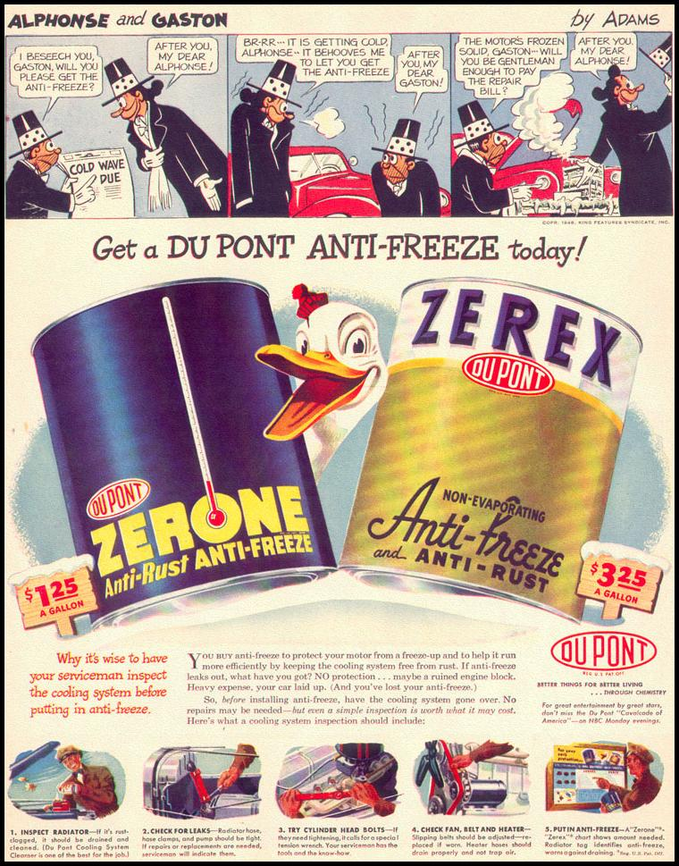 DU PONT ZEREX ANTI-FREEZE LIFE 10/11/1948 p. 135