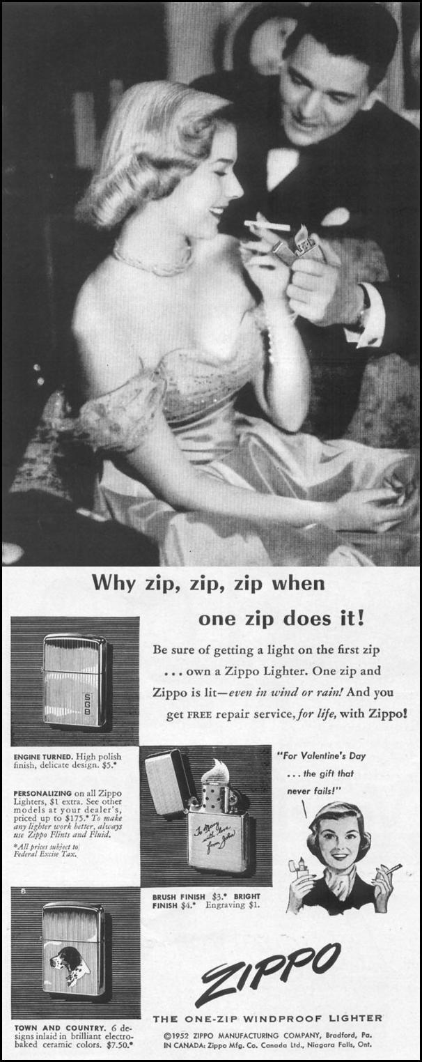 ZIPPO WINDPROOF LIGHTER LIFE 01/21/1952 p. 91
