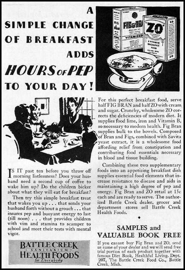ZO CEREAL BETTER HOMES AND GARDENS 10/01/1930 p. 13