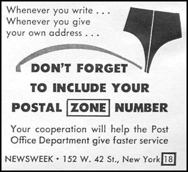 POSTAL SERVICE NEWSWEEK 09/03/1951 p. 57